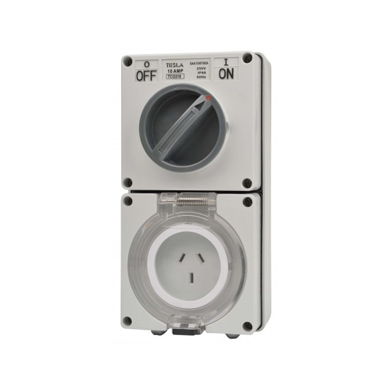 Combination Switched Socket Outlet IP66